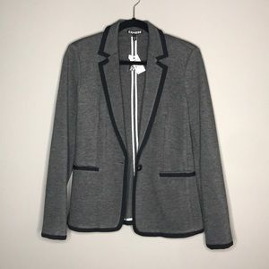 Express Gray and Black one button blazer size S